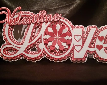 Valentines Love Card Cutting Files,  Silhouette,Cameo,DXF,SVG,Scal,ScanNCut,Cricut