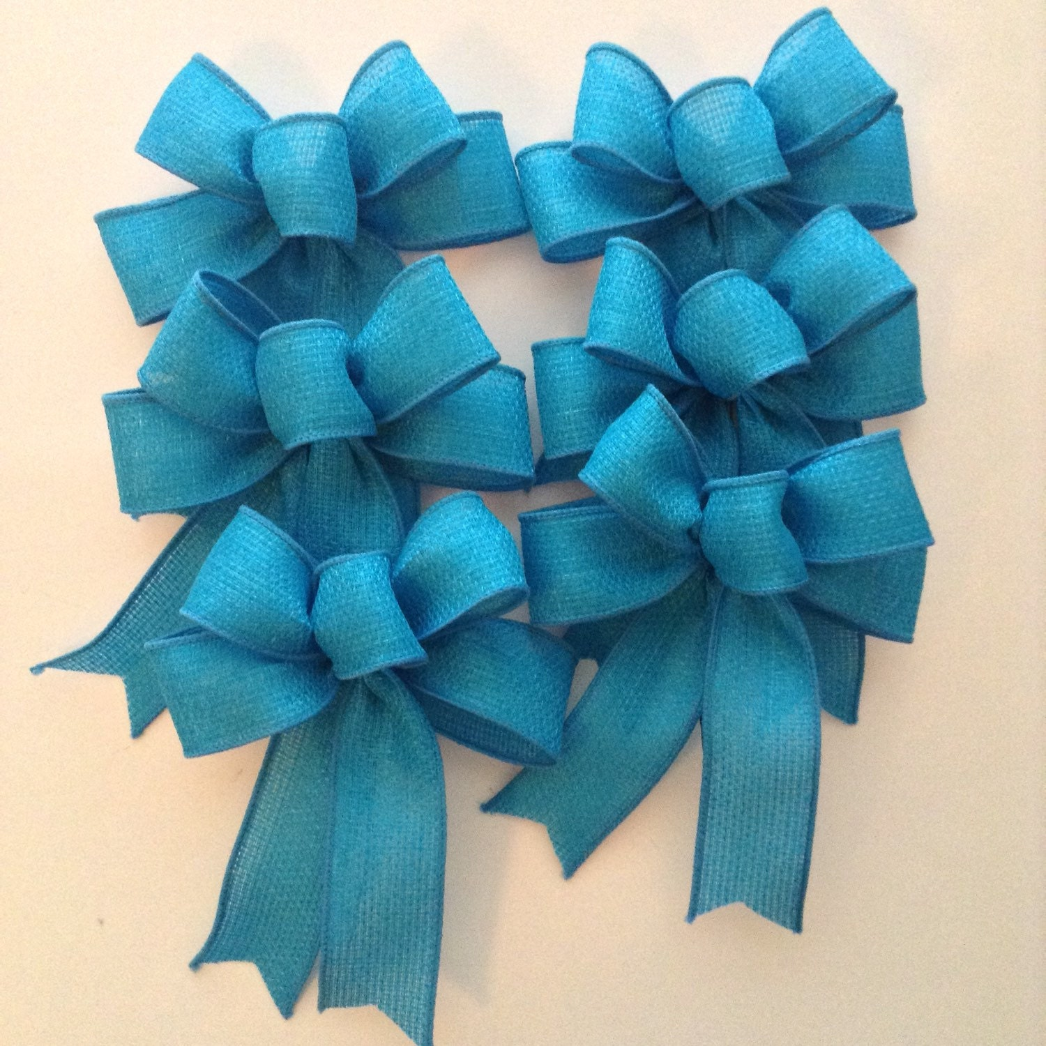 Turquoise Blue Decorative Bows / Christmas Tree Bows / Small