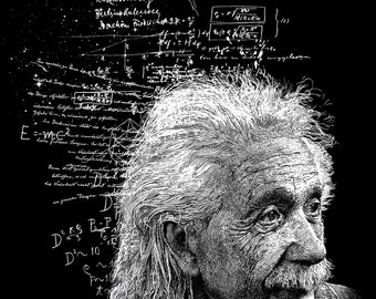 Albert Einstein Print 11x14 Fine Art Print Physics Gift