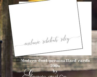 Personalized custom stationery  calligraphy notecards monogram note cards Personalized notes   Wedding Monogram cards bridal