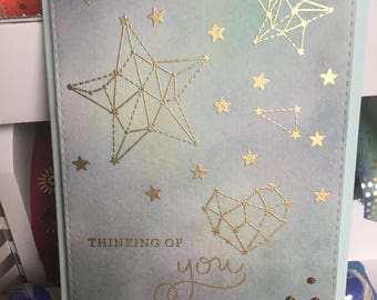 Thinking of You Card With Stars