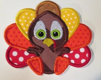 Thanksgiving Baby Turkey Boy or Girl Iron On Appliques
