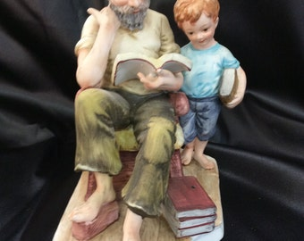 Vintage figurine, ESD China, Storytime, Hand painted, Story teller, Lefton china, TreasuresinTyme