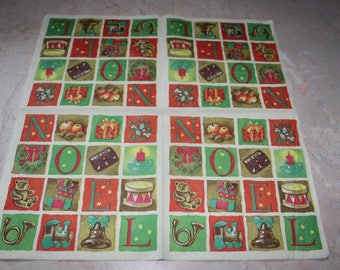 Christmas themed paper napkin,