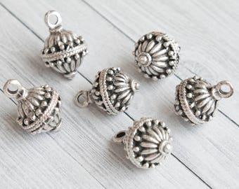 Victorian Pendant-Bead, Pendants Charms Round, Antique Silver Pendant-Beads, Code: T71