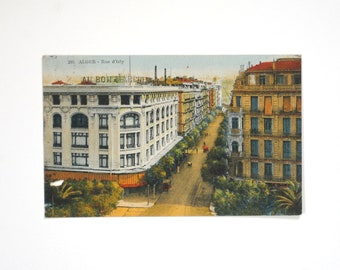 Algiers Street D'isly-city of Algiers Algeria - Africa du Nord-french antique-1930 s - old postcard
