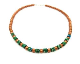 Fancy Map Jasper Necklace, Copper, Green, Southwestern, Bohemian,  Beaded Jewelry, Funkie Unique, Nepantlaz, Gifts for Her, Yogi Healing