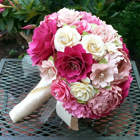 paper flower bouquets for weddings paper flower bouquet wedding bouquet bridal bouquet 6365