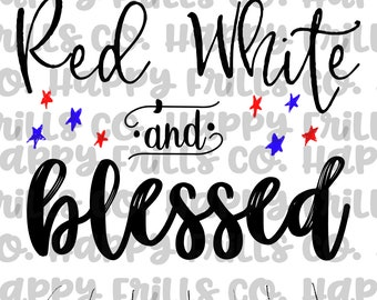 red white and blessed png instant download, mama Design/ designs sublimation