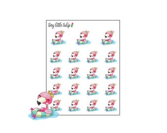 Planner Stickers Flamingo Pool/Float