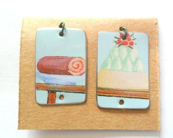 Just Sweet Upcycled Vintage Confectionary Tin Earring Findings