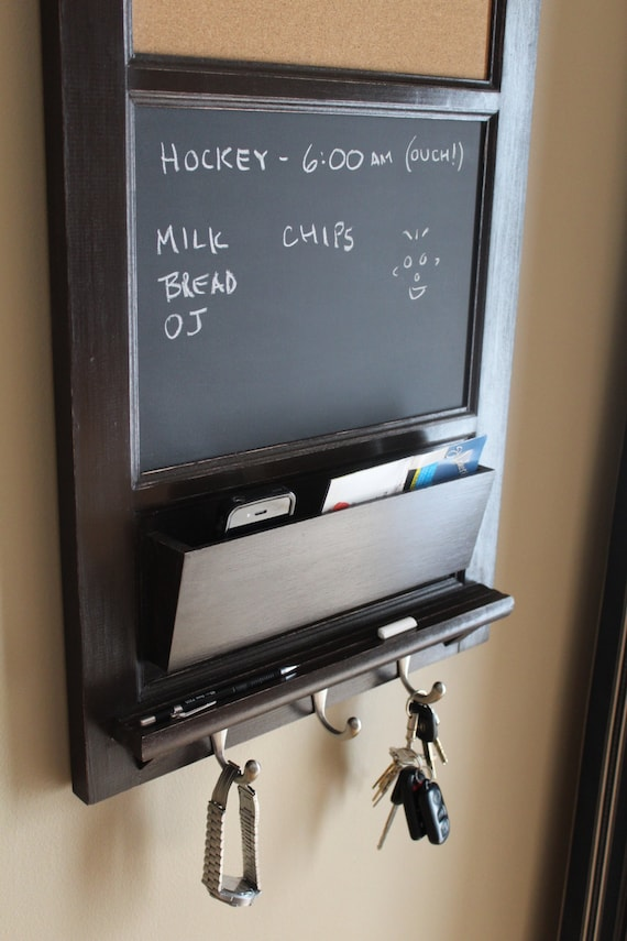 Top Vertical Wall Tall Chalkboard Cork Bulletin Board with Mail PA75