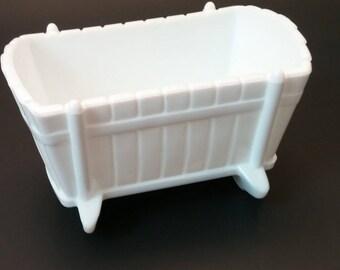 Indiana Glass Milk Glass Cradle
