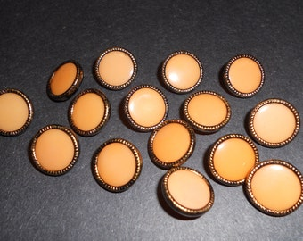 15 vintage acrylic buttons, 12 mm (14)