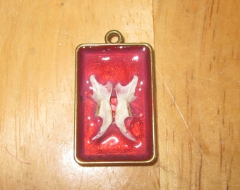 Red Mouse jaw pendant.