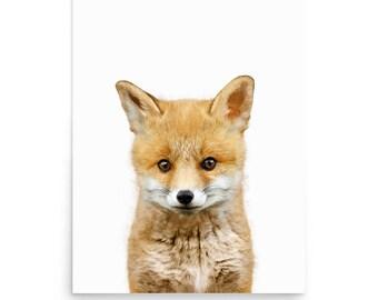 Fox Print, Fox Printable, Woodland Animal Print, Fox Poster, Animal Print, Animal Nursery Prints,  Digital Print, Printable Art