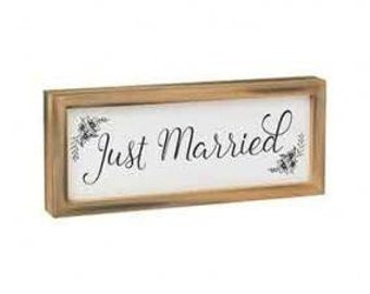 Just Married Wood Box Sign