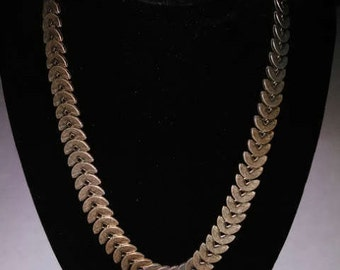 Crescent Shaped Bronze Necklace