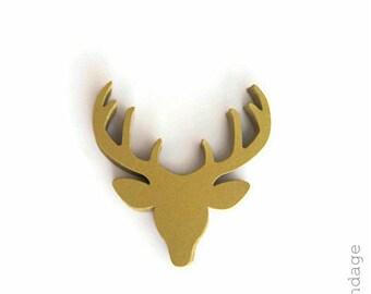 Stag Head Punches, Golden Deer Die Cuts, Deer Head Punches, Gold Deer Antlers, Paper Deer Heads, Woodland Punches, Deer Paper Punches, Deer