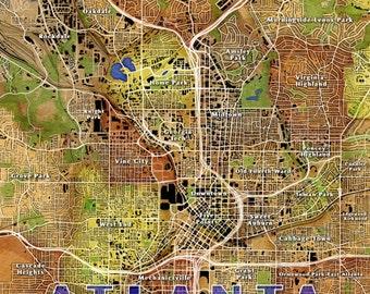 Atlanta Wall Map