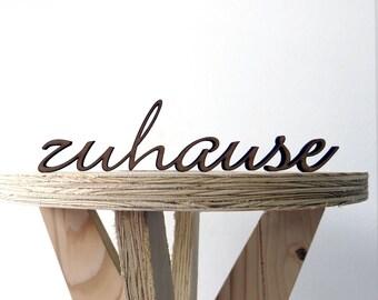 Zuhause - 3D wood lettering