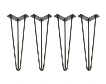 metal furniture legs modern. Hairpin Legs Set Of 4, RAW STEEL, Hairpin, Table Legs, Desk Metal Furniture Modern