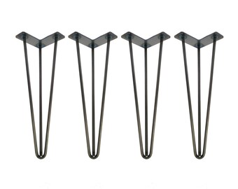 Hairpin Legs Set of 4, USA Made, Hairpin, Hairpin Table Legs, Desk Legs, Mid Century Modern, Modern Coffee Table, Furniture Leg, Metal Leg