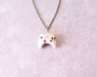 Xbox controller necklace, polymerclay