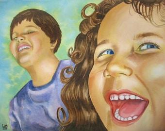 Custom 16 x 20 Watercolor Portrait