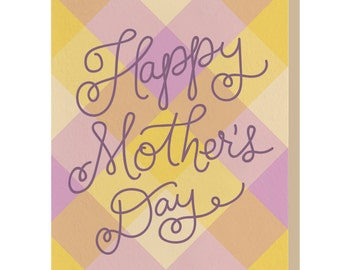 Letterpress - Happy Mother's Day Plaid - Card