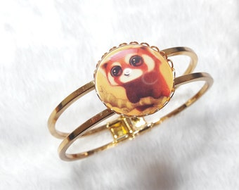 The red panda gold Bangle Bracelet
