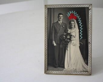 "Vintage embroidered ""Princess Chippewa"" photo"