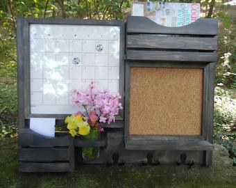 Farm House/Message Center /Mail Organizer/Kitchen Decor/Office Decor /Magazine Holder/Family Message Board