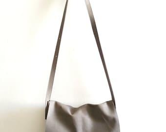 Messenger bag ,cross-body leather - GRAY