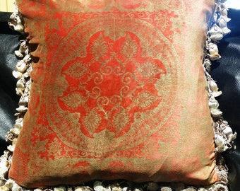 Designer Pillow. Venetian Silk Velvet.  Large 20 Inches Handmade