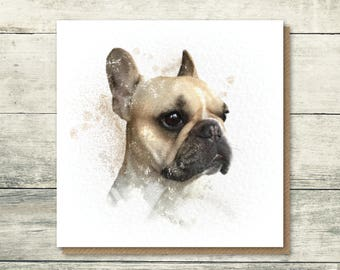 French Bulldog Card | Frenchie Card | French Bulldog Birthday Card | Dog Card