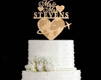 Travel wedding cake topper,travel cake topper,travel wedding cake,travel toppers,travel themed cake topper,travel cake topper wedding,69717