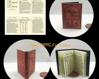 MAGICAL THEORY 1:6 Scale Illustrated Readable Book Magic Wizard Witch Popular Boy Wizard Gypsy Potter Barbie Accessory