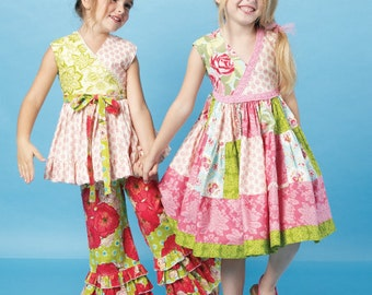 McCall's Sewing Pattern M6497 Children's/Girls' Ruffled Top, Dress and Pants
