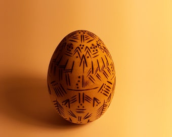 Decorative Woodburning Egg