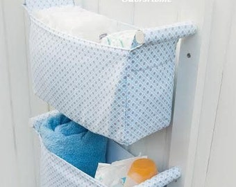 Nursery Storage Bins   Kids Room Fabric Storage Baskets   Diaper Caddy Wall  Organizer   Change
