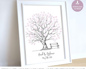 wedding tree guestbook, wedding guest book tree, wedding guest book, fingerprint tree, custom wedding gift, unique wedding gifts for couple