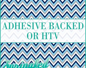 Navy Blue, Light Blue, Grey & White Chevron Stripes Pattern #4 Adhesive or HTV Heat Transfer Vinyl for Shirts Crafts and More!