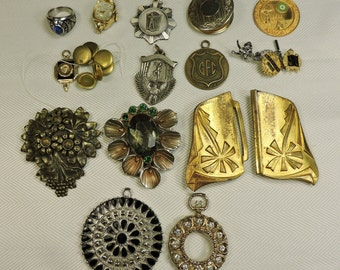 Vintage Jewelry Lot for reuse, repurpose, mixed media, collage, steampunk