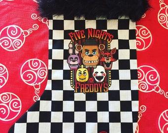 Christmas Stocking Five Nights at Freddy's inspired Freddy Fazbear