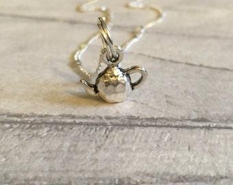Teapot necklace, tea necklace, tea jewellery, tea lover, british culture, English tea - british themed necklaces,