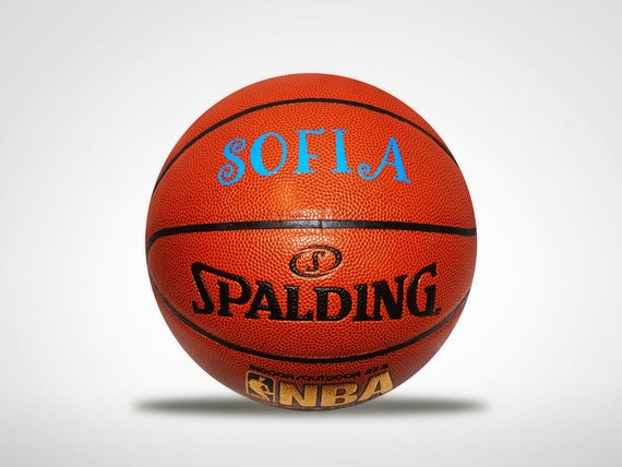 Personalized Customized Pink Basketball Spalding Indoor/Outdoor Women's Girls Gift....Blue