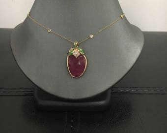 One-Of-A-Kind Strawberry Necklace