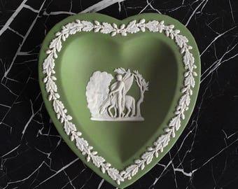 Antique Jasperware Heart Dish