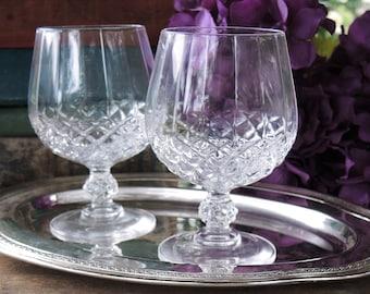 Coupe Vintage Brillant sans plomb cristal Brandy coupes verres ensemble de 2 Cognac Brandy verres à boisson